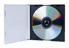 CD in de open geïsoleerdea doos. Royalty-vrije Stock Foto