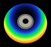 Cd del color del arco iris en vector negro Fotos de archivo libres de regalías