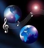 Cd del mondo di musica del Internet Fotografia Stock Libera da Diritti