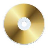 CD del oro Imagen de archivo libre de regalías