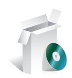 CD del rectángulo Imagen de archivo libre de regalías