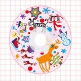 CD della copertura dei bambini Fotografie Stock