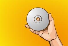 CD della maniglia Immagine Stock