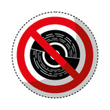 Cd with denied sign. Vector illustration design Royalty Free Stock Photo