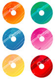 Round disc templates. A series of colorful disc overlays templates Royalty Free Stock Photo