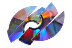 CD destrozado fotografía de archivo libre de regalías