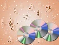 CD di musica Immagine Stock Libera da Diritti