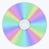 Cd disc. Colorful computer generated cd disc Stock Images