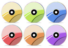 CD Disc Collection 3 royalty free illustration