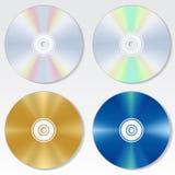 Cd disc vector set Stock Photo