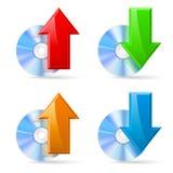 CD, disco de DVD Fotografía de archivo