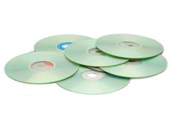 CD-discs. Cd\dvd discks isolated on white Stock Photography