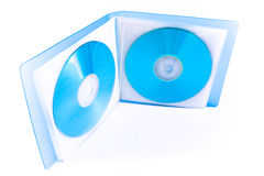 CD Discs in transparent bag Stock Photo