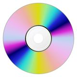 CD disk. CD disk on a white background isolated royalty free illustration
