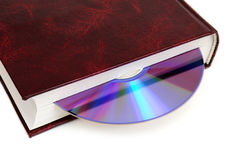 CD-disk embedded in the book Stock Photography