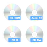 CD disk icons. Vector illustration. Set of realistic CD disk icons. Vector illustration Stock Photography