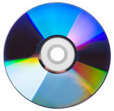 CD disk isolated. On a white background stock photos