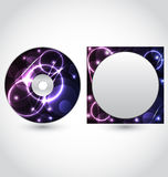 Cd disk packing design template Stock Images