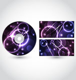 Cd disk packing design template Royalty Free Stock Photo