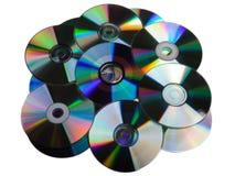 cd diskdvdhög Royaltyfri Bild