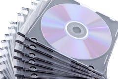 CD DVD boxas Arkivbilder