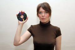 cd diskettuppvisning för blanc Royaltyfria Foton