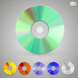 Cd disks of different colors Royalty Free Stock Images