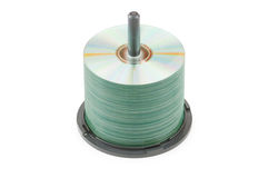 cd disks isolerad spindle Royaltyfri Foto