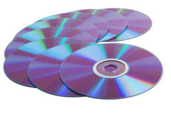 CD disks over white Royalty Free Stock Image
