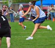 Cd disparado time do colégio das meninas do Lacrosse Foto de Stock Royalty Free