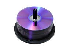 CD, disque compact-ROM, traitement différé de DVD Images stock