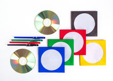 CD DO CD/DVD Foto de Stock Royalty Free
