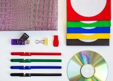 CD do CD/DVD, envelopes para discos Fotos de Stock