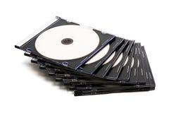 Cd do disco em umas caixas Foto de Stock Royalty Free