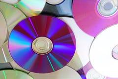 CD, dos dvds brilhantes reflexivos do CD do dvd teste padrão azul da textura do raio Imagem de Stock