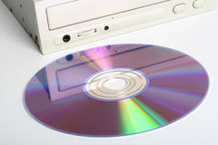 CD Drive and Disc Royalty Free Stock Photos