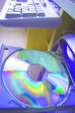 Cd drive keyboard Royalty Free Stock Photography