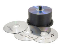 CD Duplication Stock Photo
