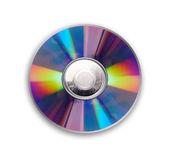Cd or dvd. Disc isolated over white background royalty free stock photography