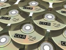 CD-DVD. Set of 3D-modelled CD/DVD disc Stock Images
