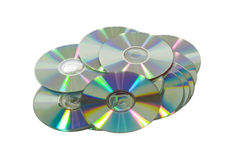 CD的dvd 图库摄影