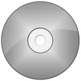 CD / DVD. Blank CD or DVD on white background illustration Royalty Free Stock Images