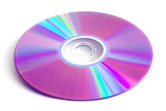 Cd dvd. Disk isolated photo on white background stock photography
