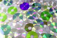 CD and DVD as background Royalty Free Stock Photos