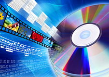 CD / DVD as multimedia content Stock Photo