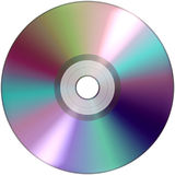 CD DVD  audio  video data recording isolated over white background Royalty Free Stock Photography
