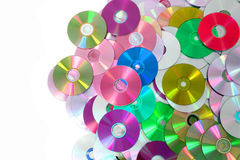 CD and DVD background Royalty Free Stock Photos
