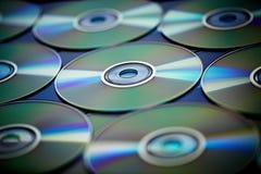 CD, DVD & Blå-stråle Arkivfoto