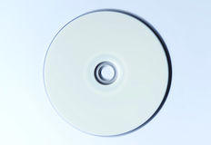 CD DVD blank disc on white table Royalty Free Stock Image