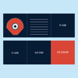 CD DVD BLU-RAY envelope. Design can be printed folded into cd envelope Royalty Free Stock Image